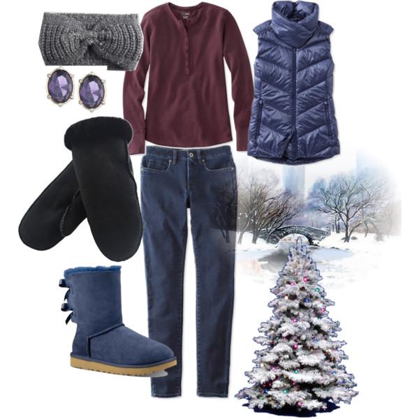 Snowy nights, Christmas lights